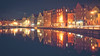 In the Night of (der_peste) Tags: leith edinburgh scotland nightshot longexposure lte reflections house harbour lights nightlights water