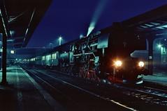 Ty3-2 Wolsztyn  |  1991 (keithwilde152) Tags: ty32 ty43126 421427 drg br42 wolsztyn wielkopolska pkp poland 1991 town station platforms tracks steam locomotives darkness outdoor autumn