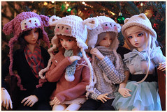 Moar Christmas with Dollies! (MiffiMifster) Tags: luts delf breakaway volks fcs f01 cristal sdgr sd fairyland feeple60 moe