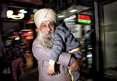 Chandani Chowk (Blinkofanaye) Tags: chandani chowk night delhi flash street people candid old india