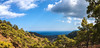 Ahead to the Sea! (Alex Demich) Tags: mountains sea horizon trees forest hills clouds cloudy sky blue green white nature wilderness panorama landscape outdoor hiking tourism travel water valley turkey lycianway