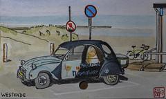 Westende (chando*) Tags: aquarelle watercolor croquis sketch