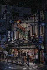 Shopping (karinavera) Tags: city longexposure night photography urban ilcea7m2 japan street store shopping kyoto market