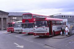 Highland L836 Inverness (Guy Arab UF) Tags: highland scottish l836 gcs36v 1980 leyland leopard psu3e4r alexander ays western smt gl36 inverness bus station j361 a979ost olympian e190 b874ust tiger duple laser l806 tms406x midland mpe406