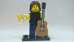 Brick Yourself Custom Lego Figure Nice Muso with Guitar & Beer
