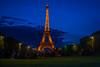 Eiffel in the blue hours (Mustafa Kasapoglu) Tags: eiffel paris france amazing tower tour night photo nightphotography nightphoto nightshot nights blue bluehour