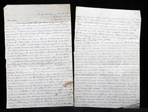 Historically Important Civil War Letters (Grand Total $6,076.00)
