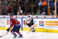 "Kansas City Mavericks vs. Kalamazoo Wings, January 5, 2018, Silverstein Eye Centers Arena, Independence, Missouri.  Photo: © John Howe / Howe Creative Photography, all rights reserved 2018. • <a style=""font-size:0.8em;"" href=""http://www.flickr.com/photos/134016632@N02/38681932055/"" target=""_blank"">View on Flickr</a>"