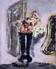 IMG_2753 Filippo de Pisis (Luigi Tibertelli)  1896-1956  Fiori con specchio barocco.  Flowers with baroque mirror. 1936    Turin Galleria d'Arte Moderna e Contemporanea (jean louis mazieres) Tags: peintres peintures painting musée museum museo italie turin torino galleriadartemodernaecontemporanea filippodepisis