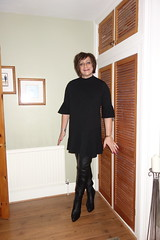 London 03/01/18 (Victoria HS) Tags: tranny tv cd thigh boots tights heels sexy t girl gurl sexygirl transgender leatherboots highheels blackdress redtights horny available needy loving