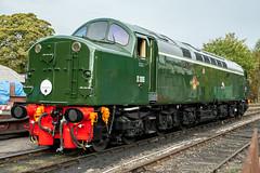 D306 at Bridgnorth 08.10.2011 (Wolfie2man) Tags: d306 40106 whistler class40 britishrail severnvalleyrailway bridgnorth