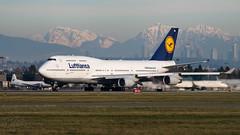D-ABVU - Lufthansa - Boeing 747-430 (bcavpics) Tags: dabvu lufthansa boeing 747 744 jumbo jet aviation aircraft airliner airplane plane cyvr yvr vancouver britishcolumbia canada bcpics