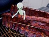 An Alien Invasion of My Smoker (ricko) Tags: alien toy smoker ribs bbq ribrack 6365 2018 pork