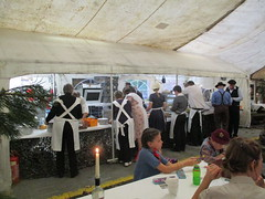 Catering staff at work in the marquee 14Oct17