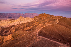 Follow the Ridge (corey_layman) Tags: deathvalley california zabriskiepoint trail sunrise pink beautiful canon nature hiking camping explore