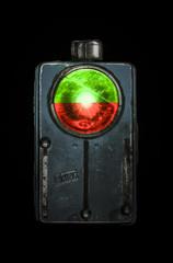 Red & green - grandpa's old flashlight (mvnfotos) Tags: 52weeks2017 week50 redandgreen redgreen