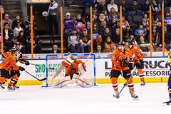 "Kansas City Mavericks vs. Colorado Eagles, December 16, 2017, Silverstein Eye Centers Arena, Independence, Missouri.  Photo: © John Howe / Howe Creative Photography, all rights reserved 2017. • <a style=""font-size:0.8em;"" href=""http://www.flickr.com/photos/134016632@N02/39106651882/"" target=""_blank"">View on Flickr</a>"