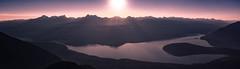 Galena Bay British Columbia (jonathan.paar) Tags: sunset panorama lake water bay bc canada british columbia lifestyle canon 24mm ferry