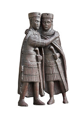 Porphyry Tetrarchs (chrisdingsdale) Tags: architecture broken byzantine cathedral doges embracing europe famous italy mark mystery palace photography place porphyry square statue sword tetrarchs treasury venice vertical whispering