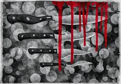 be careful (Swissrock-II) Tags: becareful black dark knife blood 2017 decembre photoshop photomanipulation photoshopart digital