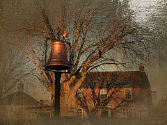 'The Bell' at Aston Clinton (jjamv) Tags: jjamv julesvtravel astonclinton aylesbury buckinghamshire oxford 18thcentury building tree bell painterly craqualure texture craquelure thebellinn greattrainrobberyof1963 liztaylor richardburton jackieonassis raymondblanc rouxbrothers astonclintonschool evelynwaugh declineandfall publichouse architecture aylesburyvale 18thcenturybrick reflections shadows bucks pub inn thebellastonclinton