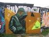 Urban art. (Bennydorm) Tags: brightonandhove roadside barrier hoarding wallart october fujifinepix grafitti inglaterra inghilterra angleterre europe uk gb britain england sussex brighton hoodie colours urban mural streetart art