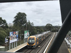 No race at Rosehill (highplains68) Tags: carlingford line m21 millenium set sydneytrains