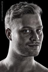 Oscar Conlon-Morrey - Actor (2017) (james m barrett) Tags: harshbeautiful male maleportrait masculine intense portrait blackwhite desaturated beard stubble handsome lgbt cub hotmen commission portraitcommission