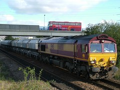 66188 (North East Rail Images) Tags: ews 66188 passing metrocentre with westbound freight service
