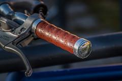 Handlebar Reflections (suzanne~) Tags: 100bicycles handlebar grip brake bicycle bike munich germany project detail