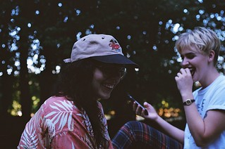 Taylor & Chayse, Green Hausu backyard, Olympia Washington / Nikon f3 / Kodak Ultra 400