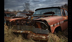 Needs a Little Work (Whitney Lake) Tags: junkyard junk automobile car antique classic rust decay abandoned