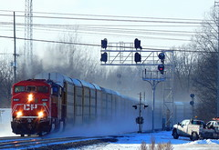 Freshly painted Canadian Pacific SD 60 at Kendallville Indiana (Matt Ditton) Tags: canadian pacific kendallville train