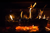 Keeping Warm (giantmike) Tags: fire flame heating house red wood burning coals embers fireplace hot logs
