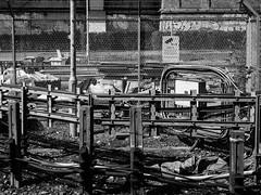 Jailed #6 (franleru1) Tags: francoiselerusse london londres olympus photoderue streetphotography uk blackandwhite chemindefer monochrome noiretblanc railway urbain urban urbandisaster