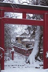 貴船神社(Kifune Shrine) 雪景色-1 (転倒虫) Tags: 京都 日本 貴船神社 雪 雪景色 朝 神社 kyoto japan snow kifunejinjya shrine 冬 winter snowscape 静寂 silence quiet 白 white