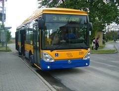 Zlin-Otrokovice No. 220 at Louky Tocna terminus (johnzebedee) Tags: trolleybus transport publictransport vehicle skoda zlinotrokovice czechrepublic johnzebedee skoda24tr