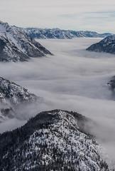 Foggy Valley on the Way to Stehekin (2) (Scott_Nelson) Tags: washington unitedstates us marblemount darrington arlington northcascadesfromtheair northcascades winter snow mountains mountain ariel