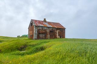 Abandoned house in Hvassahraun, Iceland