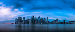 Manhattan Skyline - New York - Cityscape photography (Giuseppe Milo (www.pixael.com)) Tags: composition sunset ny landmark cityscape sea brooklyn longexposure blue unitedstates newyork travel pink skyscrapers manhattan architecture seascape usa skyline sky clouds us onsale