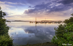 0S1A9725 (Steve Daggar) Tags: koolewong woywoy gosford nswcentralcoast visitnsw landscape waterscape seascape sunset reflection reflections tranquil serene boats marina