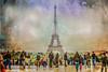 La Dame de Fer .. (Dare2drm) Tags: toureiffel eiffel damedefer architecture monument france paris djfotos touristes tourist hdr crisbuscaglialenz rainbow