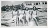 Four Teenage Girls in Swimsuits pose on Rock Ledge, 1940s (StevenM_61) Tags: teenagegirls swimsuits bathingsuits rockformation 1940s
