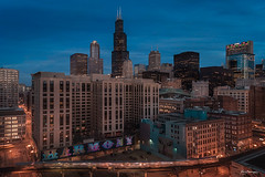 IN HARMONY (Nenad Spasojevic) Tags: train dawn drone longexposure citylights colors downtown nenadspasojevic city fun aerial naturallight inharmony streets dji exploration urban explore cityscapes perspective droning bluehour sunrise chicago illinois il usa