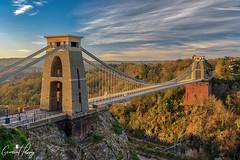 Clifton Suspension Bridge (geraintparry) Tags: bristol endland suspension bridge clifton avon gorge river listed building bridges sunrise sky cloud clouds light bracketing hdr