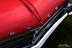 Red Gran Sport (Hi-Fi Fotos) Tags: buick gransport gs hood badge red vintage american classiccar chrome detail nikon d7200 dx hififotos hallewell