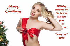 Merry CHristmas To All (Photography by Rp) Tags: wwwrpphotographytorontocom rpphotographytoronto studio body model sfw alluring sensual sexy erotic beauty person portrait christmas blonde fun flirty