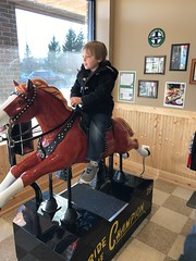 """Paul Rides a Horse at 2Toots Train Whistle Grill • <a style=""""font-size:0.8em;"""" href=""""http://www.flickr.com/photos/109120354@N07/24524495637/"""" target=""""_blank"""">View on Flickr</a>"""