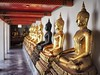 Among Buddhas. (fra_m88) Tags: buddha buddhism love passion statue religion portrait bokeh sun summer travel trip happiness city street urban art culture asia thailand monks temples temple picoftheday gold yellow orange red