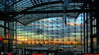Berlin, Central Station Sunset